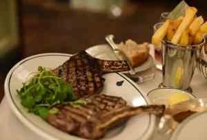 The Ivy glasgow burns night steak