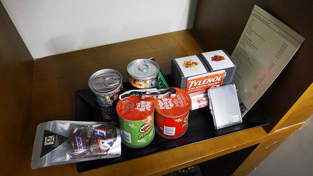 Le Germain Hotel Toronto Mercer in room snacks