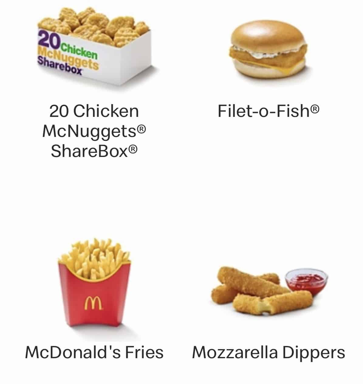 McDonald's Covid Menu