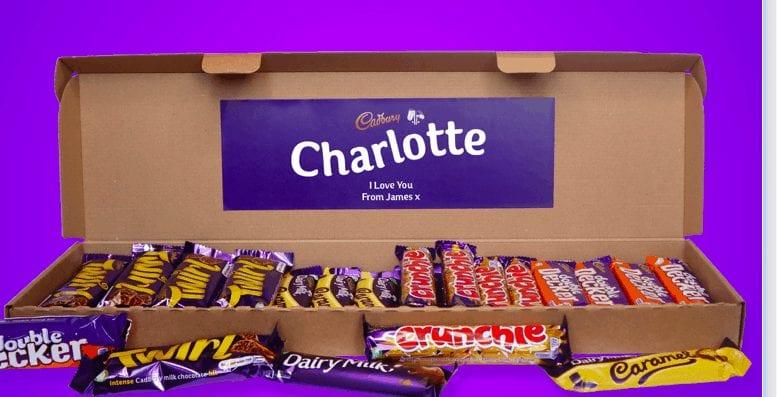 Personalised letterbox chocolate hamper prezzybox