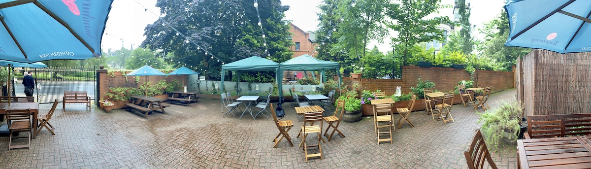 cathedral house hotel beer garden panorama