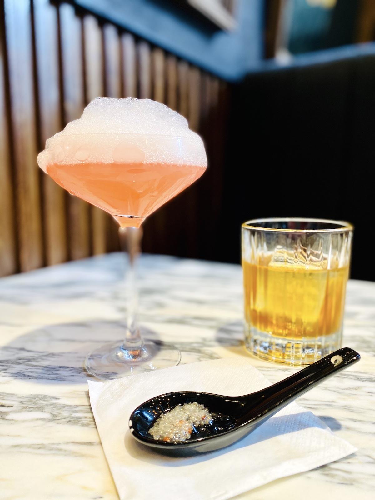 mama san cocktails Prosecco Bubbles Coconut Old Fashioned