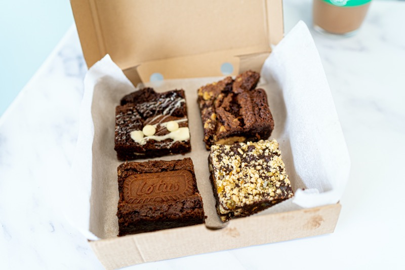 Social bite boxes of joy brownies