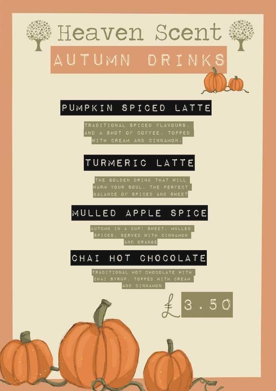 heaven scent milnathort autumn special drinks