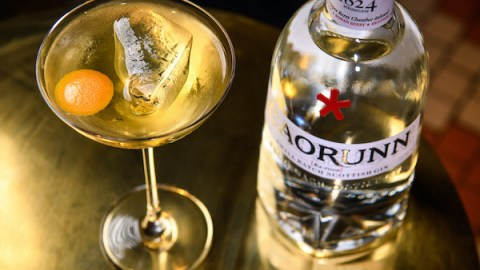St Andrew's Day Martini with Grapefruit