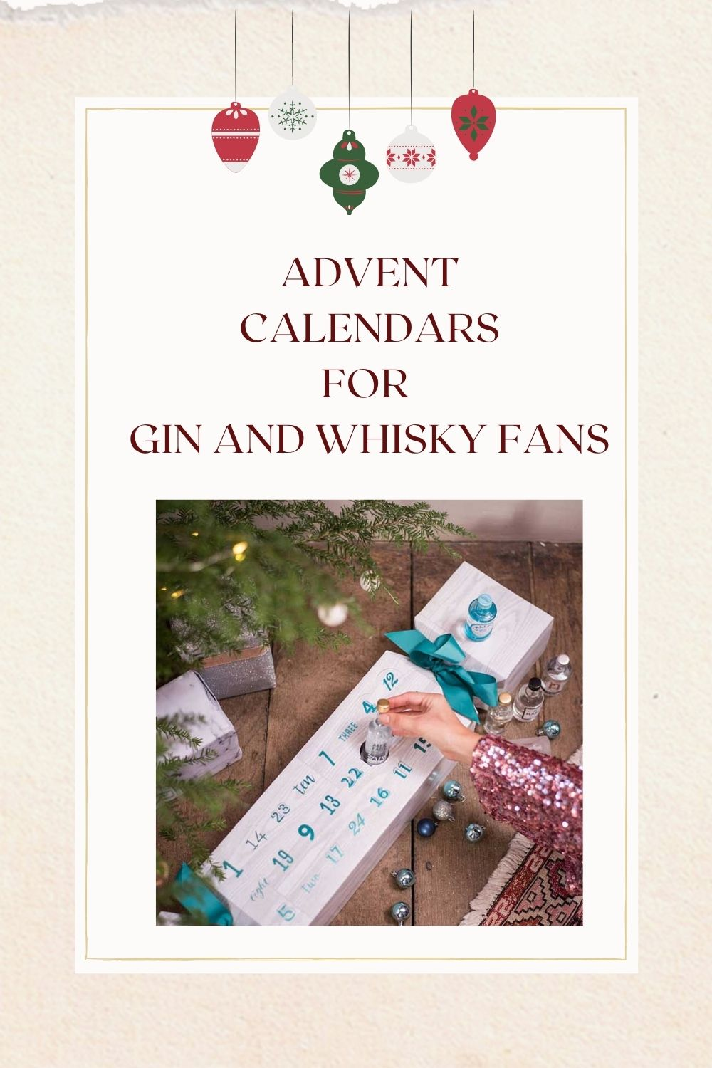 gin and whisky advent calendars
