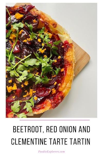 vegan beetroot tarte tartin pinterest pin