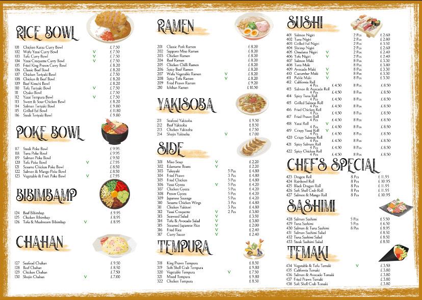 Okome shawlands menu