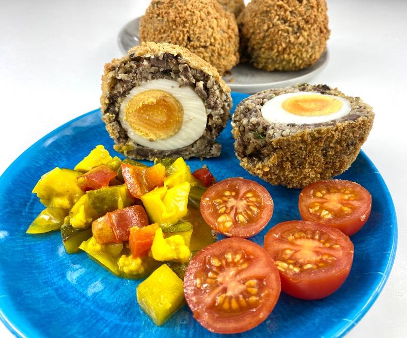 Haggis scotch eggs recipe