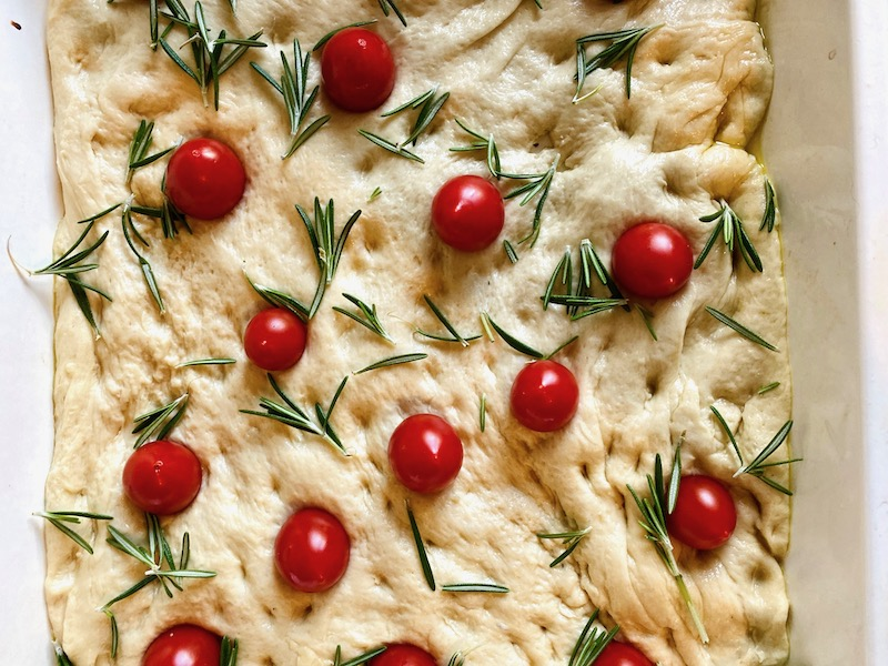 rosemary and tomato focaccia baked 2