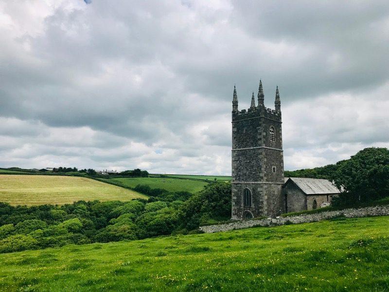 Morwenstow church cliff tearoom Cornwall
