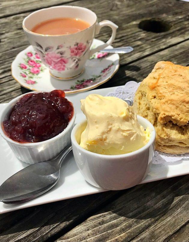 Rectory tearoom morwenstow Cornwall Cream tea
