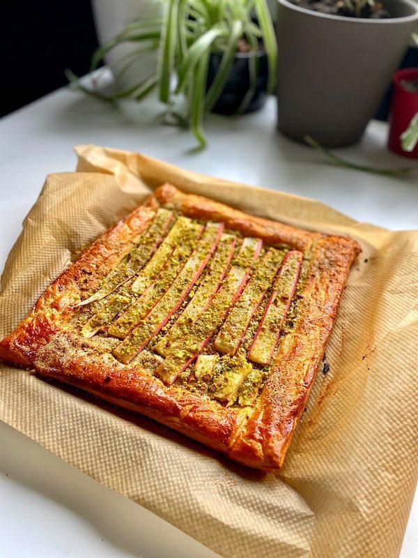 easy rhubarb tart recipe above
