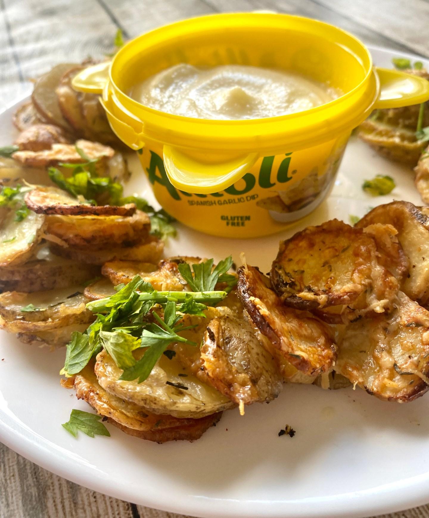 Parmesan potato stack recipe