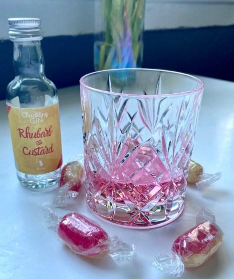 chuckling gin rhubarb and custard gin