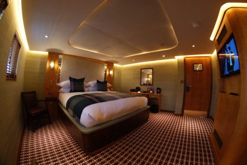 fingal leith luxury floating hotel cabin