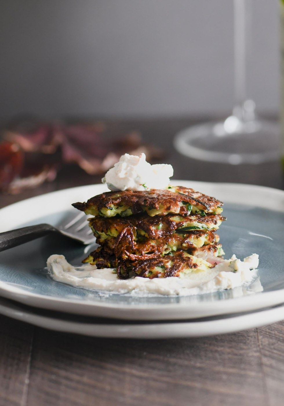 These crispy zucchini fritters are super easy to make and are the perfect way to sneak some tasty veggies into your meal!