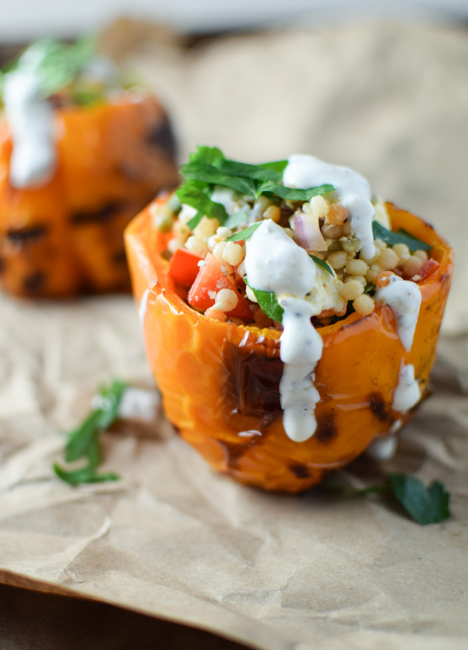 Couscous Stuffed Grilled Peppers