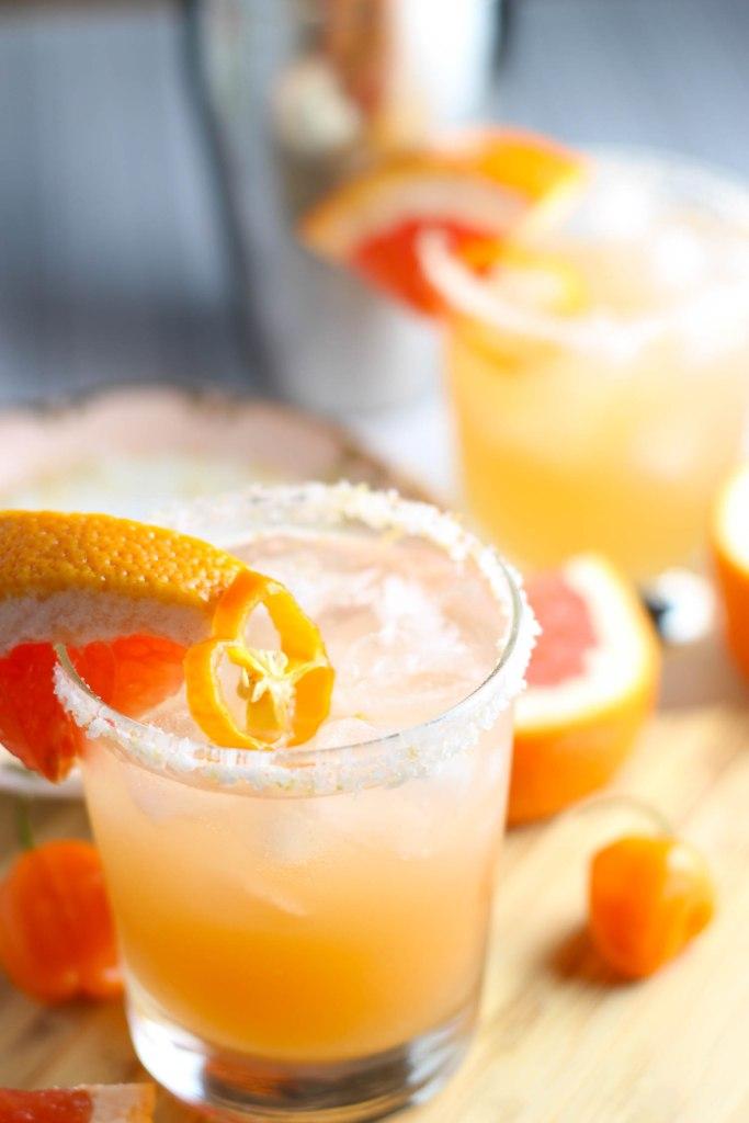 Habenero Grapefruit Margaritas from Platings and Pairings