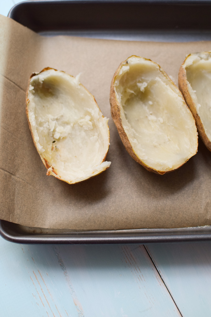 Twice baked potato shells