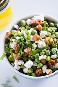 English Pea Salad with Meyer Lemon Vinaigrette