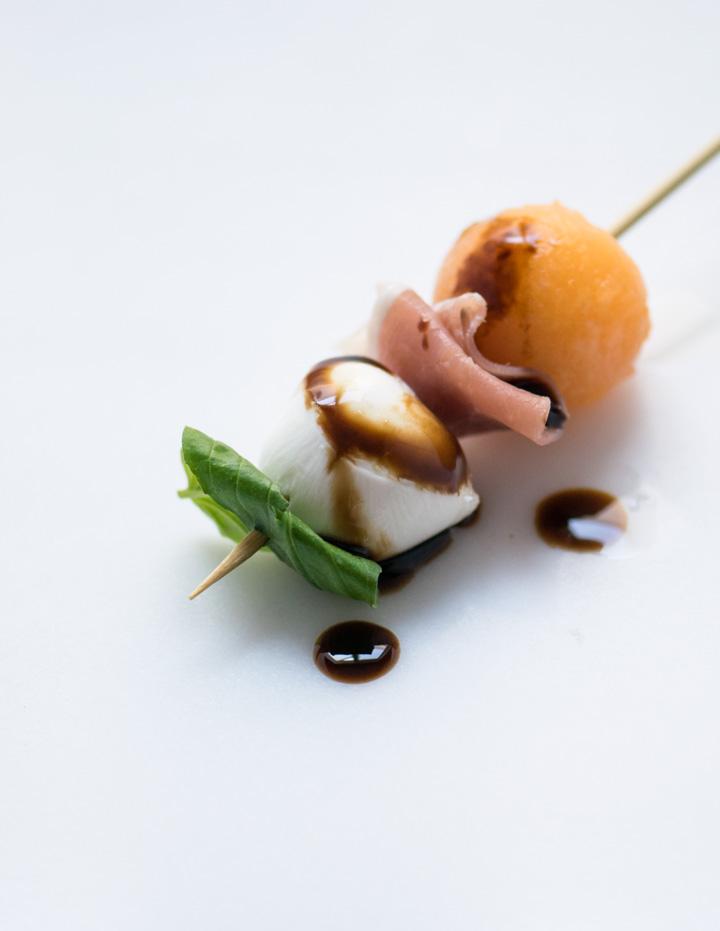 Melon, Prosciutto & Mozzarella Single Skewer