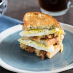 Toasted Pesto Egg Sandwich