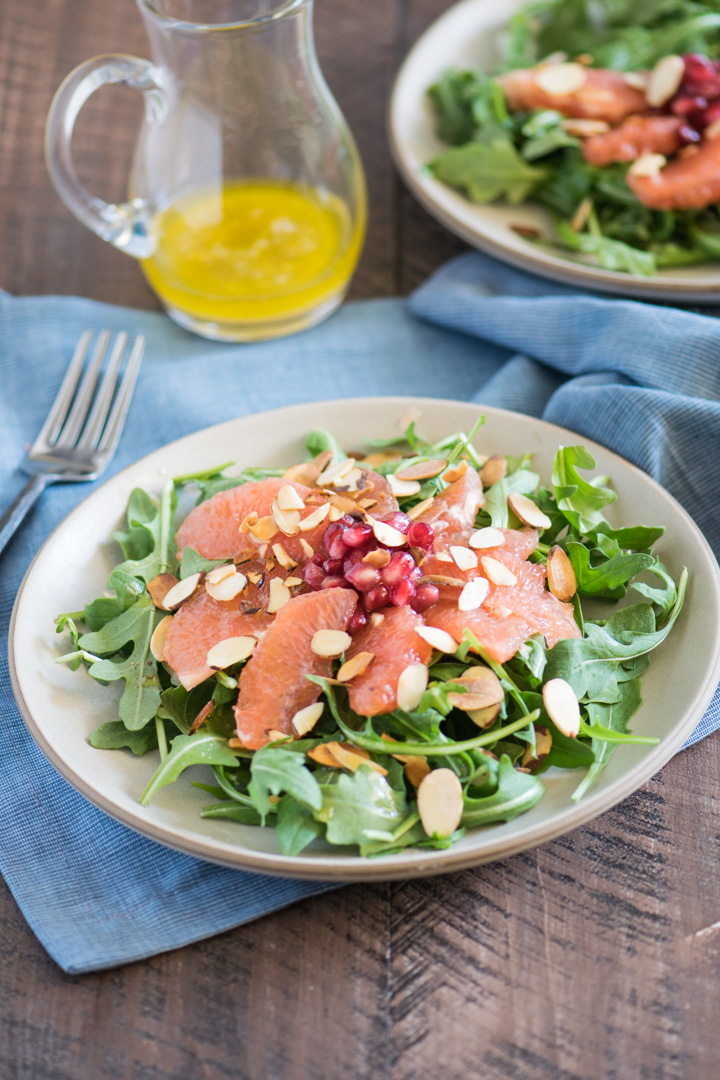 Winter Salad with Pomegranate & Grapefruit