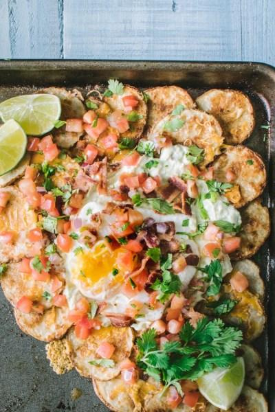 Sheet Pan Potato Breakfast Nachos