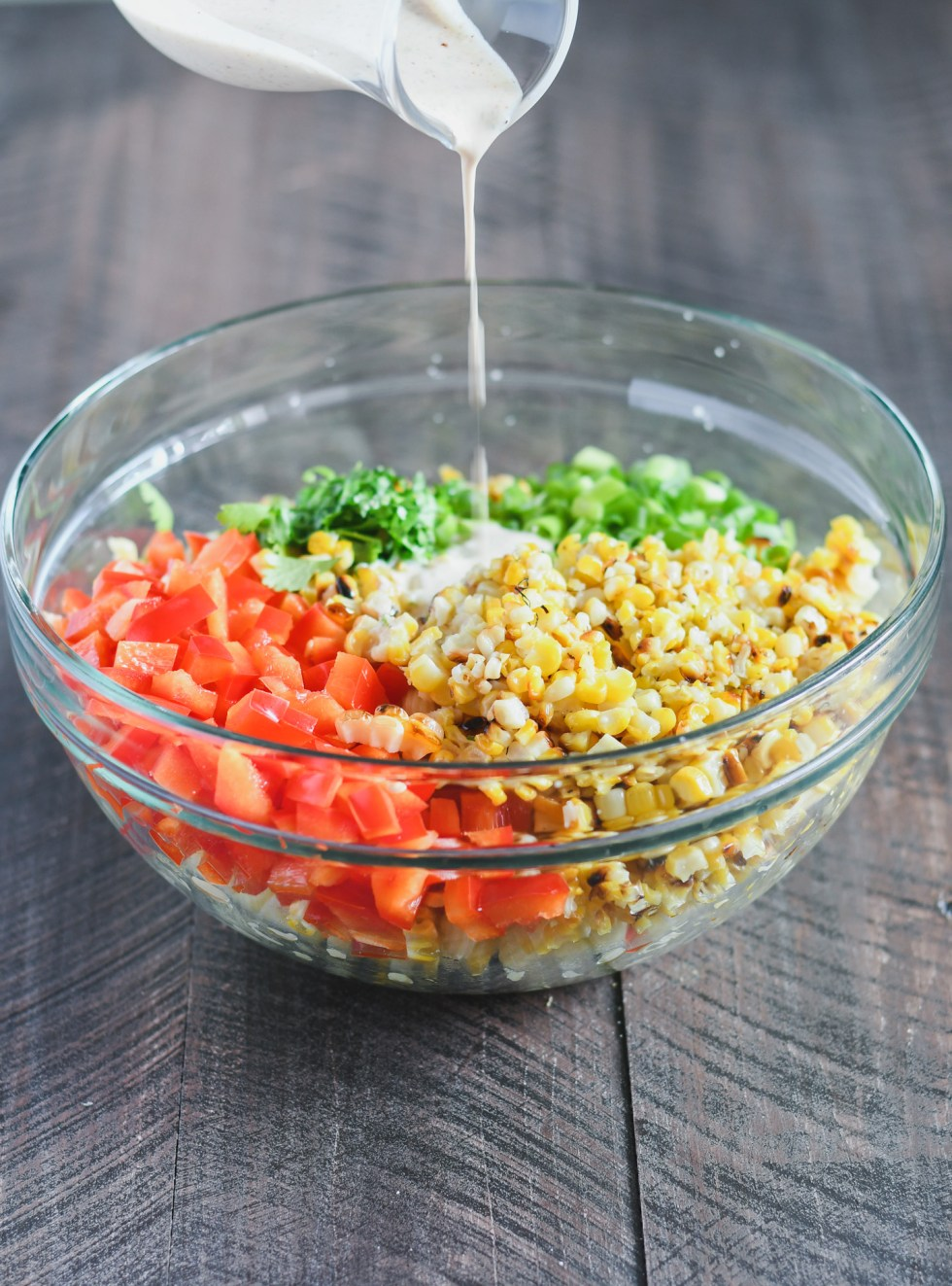The tangy lime dressing for this Mexican Street Corn Pasta Salads packs a bit of a kick, and is vegan too!