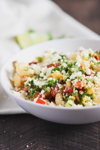 This Mexican Street Corn Pasta salad is packed with flavor from the grilled corn and tangy lime dressing.