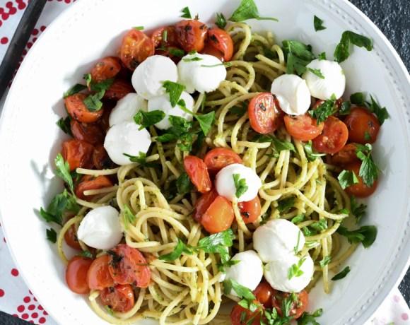 Roasted Tomato Summer Spaghetti