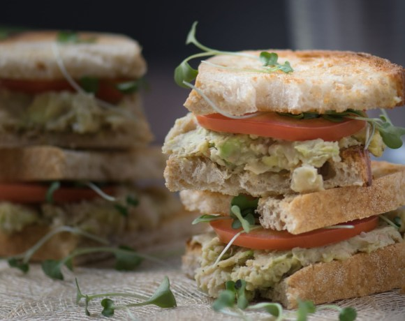 Vegetarian Avocado White Bean Sandwiches