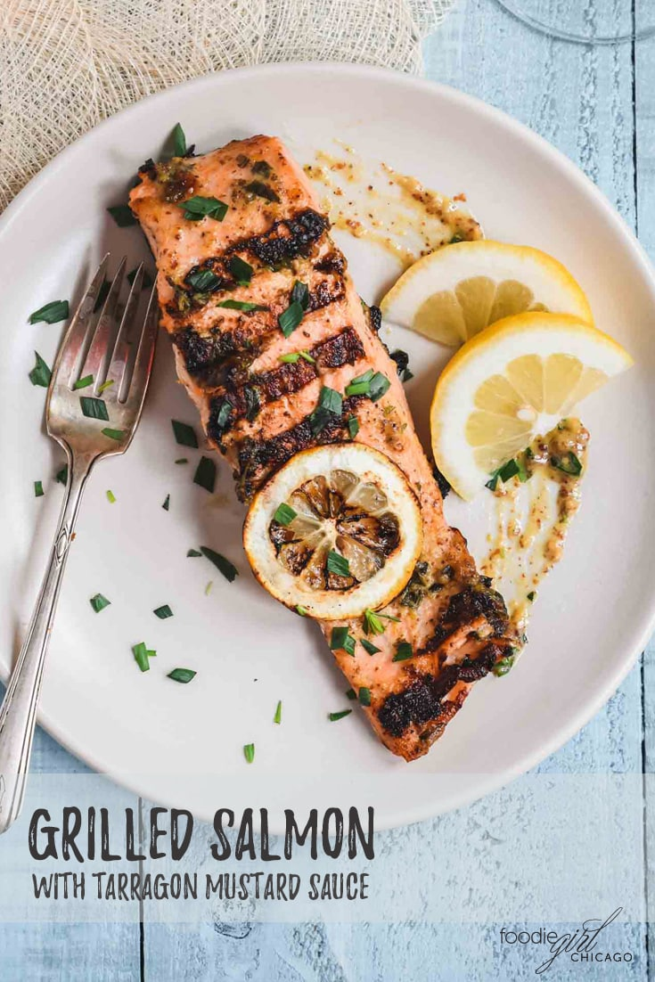 This grilled salmon combines a handful of ingredients for a tangy, fresh taste. It's ready in less than 30 minutes making it a great choice for a summer meal!