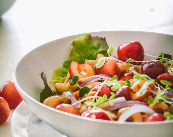 A Summer Quinoa Salad:  Honey Quinoa with Cherries + Cashews