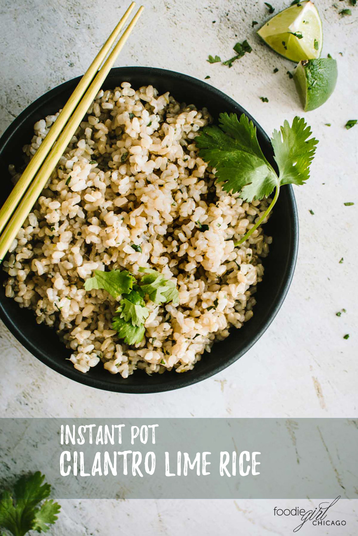 This Instant Pot Cilantro Lime Rices uses only 5 ingredients making it an easy, tasty side dish or base for all your rice bowl creations!