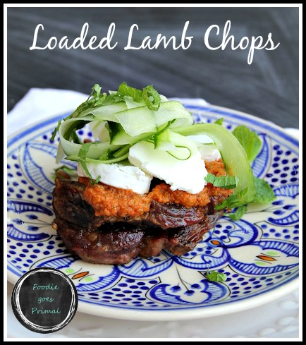 Loaded Lamb Chops {LCHF, Banting}