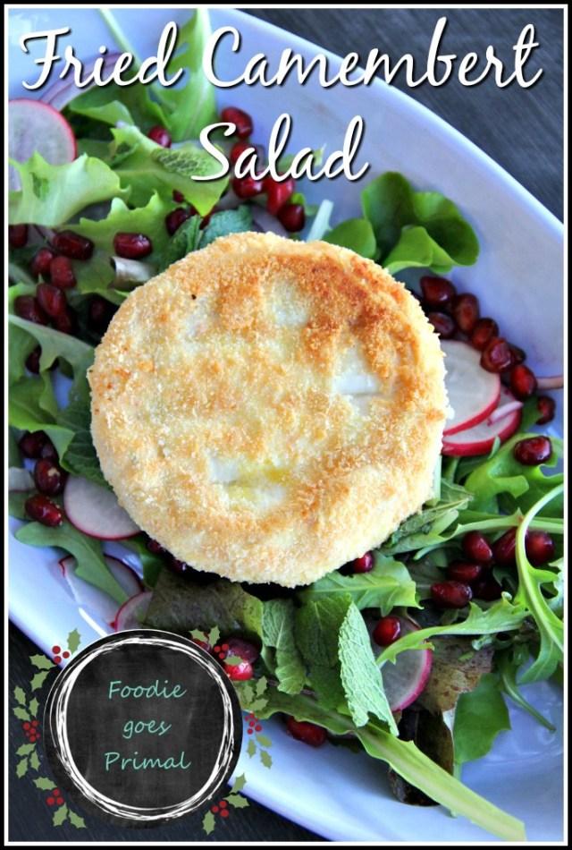 Fried camambert salad