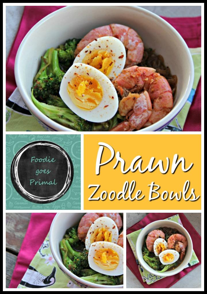 Low Carb Prawn zoodle bowls