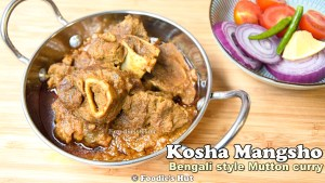 kosha-mangsho- recipe by Foodie's Hut