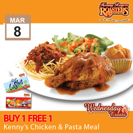 Kenny's Chicken & Pasta Meal Buy 1 FREE 1 Promotion
