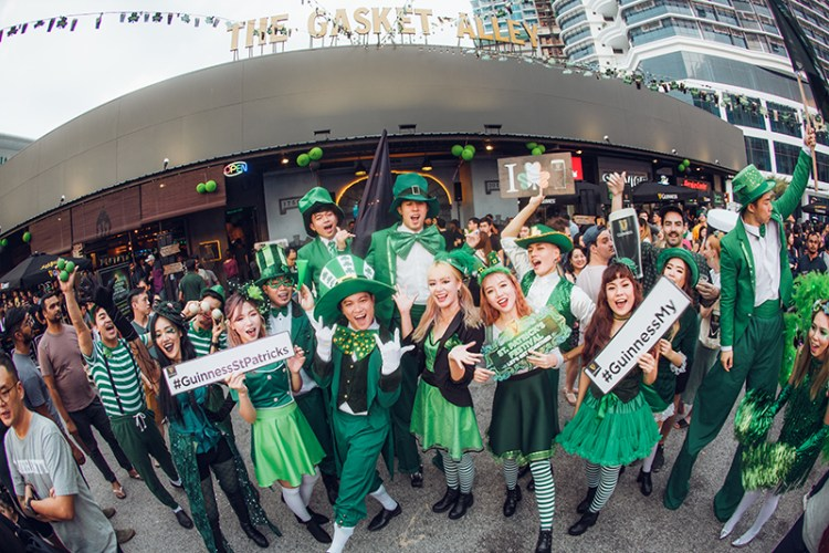 GUINNESS St. Patrick's celebration at The Gasket Alley, Petaling Jaya