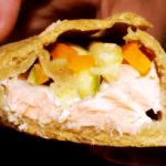 Tacos di farro al salmone e verdure
