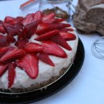 Cheese cake di pane e fragole