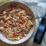 Spaghettone vongole e granchi