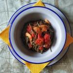Spaghettini di ortica ai funghi