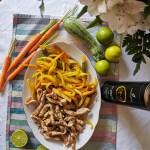 Pollo con verdure in agrodolce