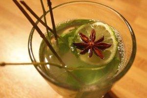 Warme frisse powerdrank met limoen, munt en steranijs