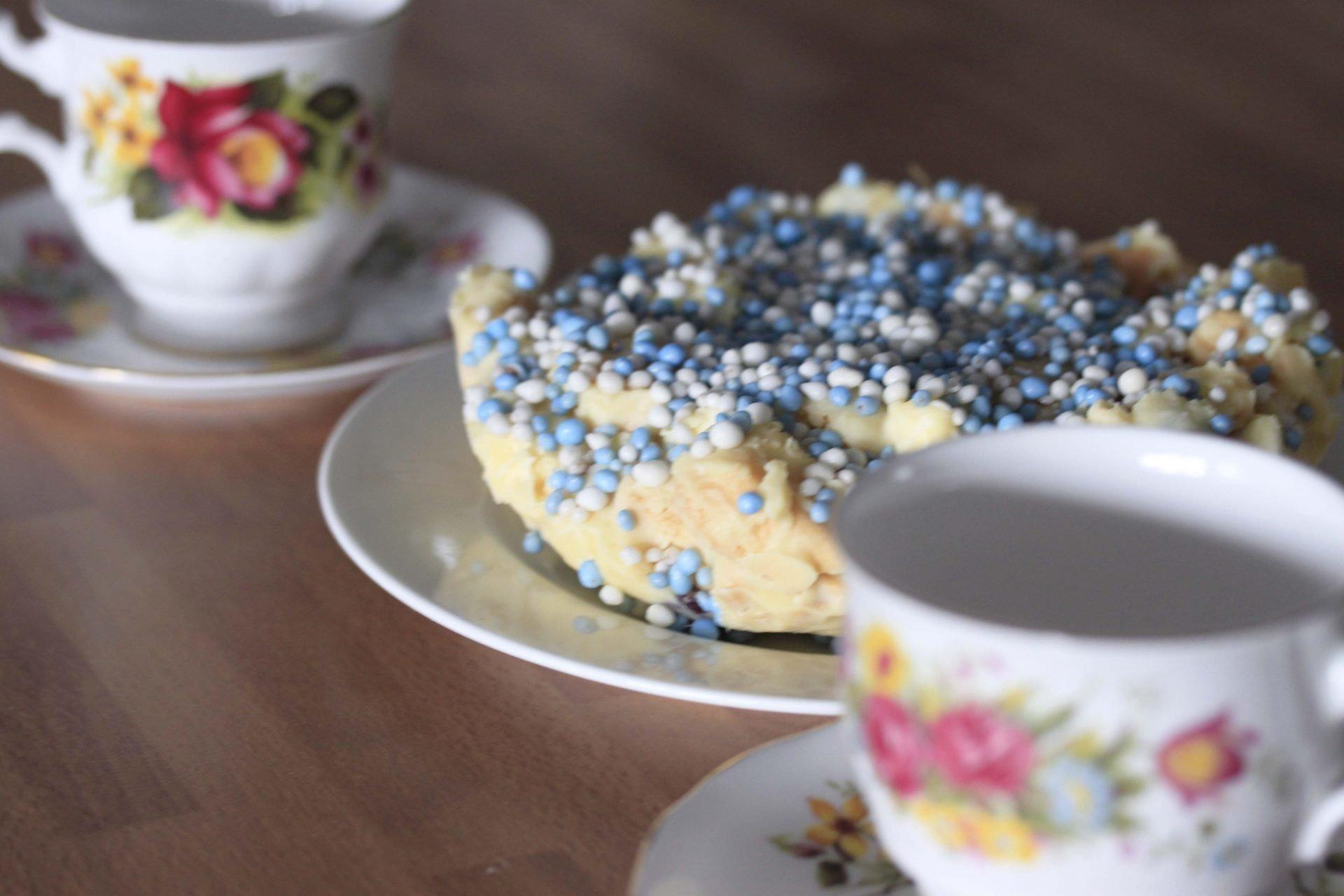 kraamtaartje van witte chocolade foodinista foodblog