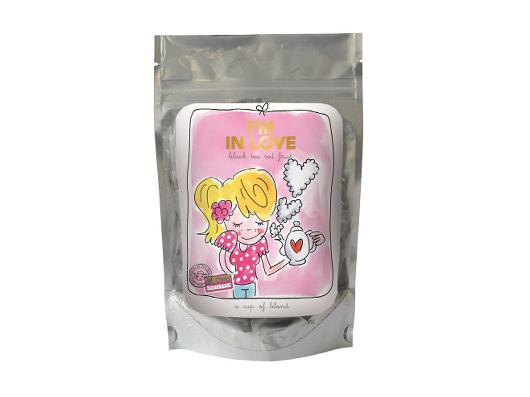 Valentijnscadeautjes onder tien Euro Blond thee I am in love